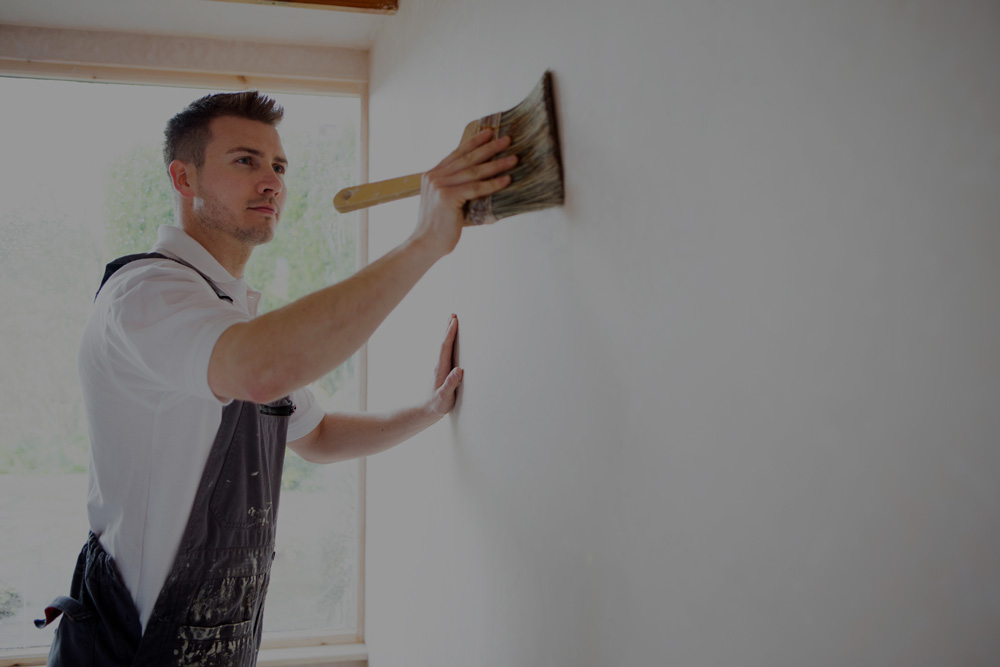 Man Painting Residential Walls