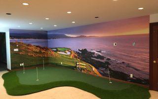 Putting Greens Golf Mural