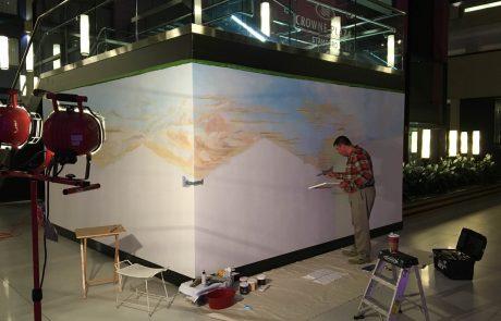 Large Mural at Crowne Plaza
