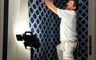 Worker Applying Wallpaper