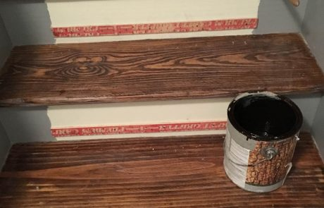 Steps in need of fresh stain